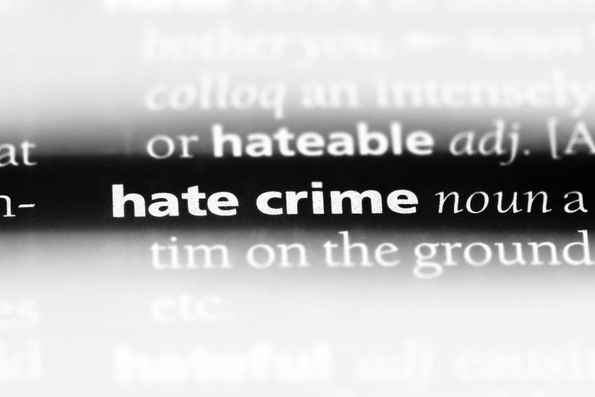 Hate Crime Definition Stock Photo
