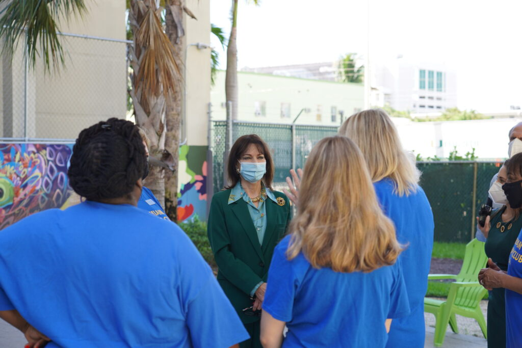 Photo: KFR engages Miami Women's Club members