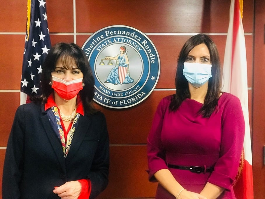 Photo: State Attorney Fernandez Rundle with Lt. Governor