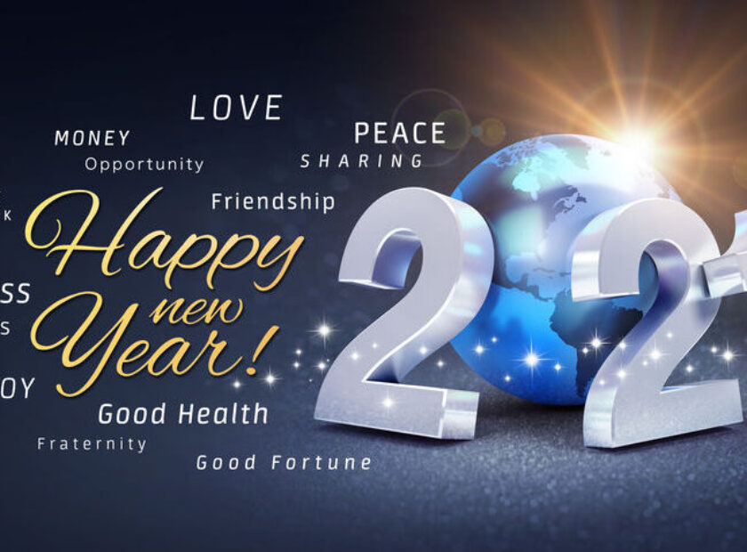 New Year 2021 Greeting card wishing the best