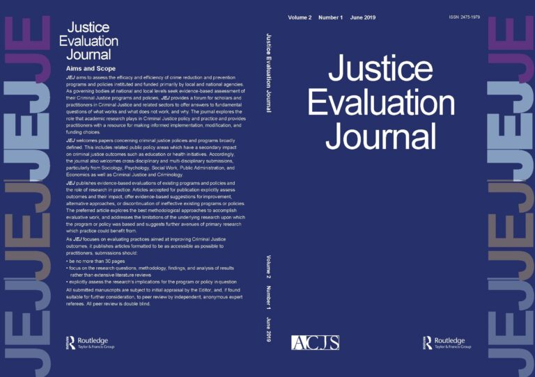 Photo: Justice Evaluation Journal Cover