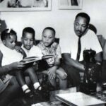 Photo: Dr. King with his children