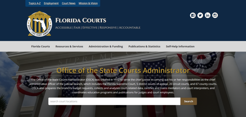 Photo: Florida Courts Administration