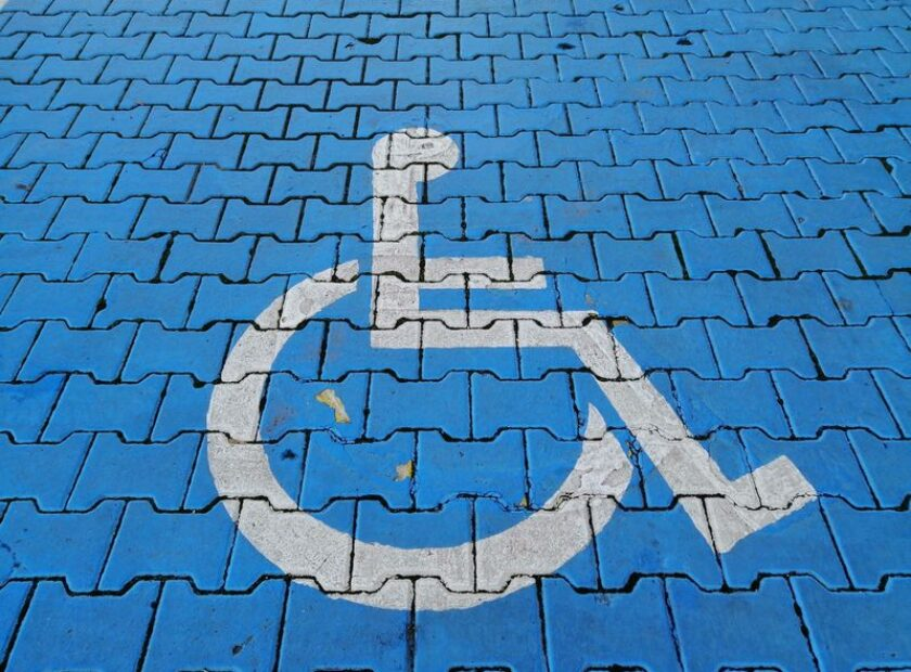 Wheelchair symbol.
